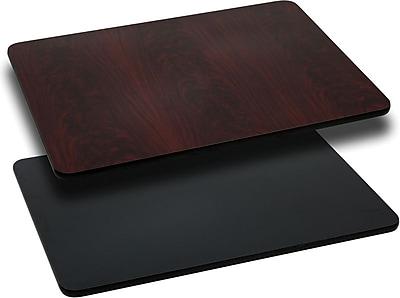 Flash Furniture 30'' x 60'' Rectangular Reversible Laminate Table Top, Black or Mahogany