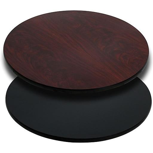 "Flash Furniture 24"" Laminate Round Table Top, Black/Mahogany"