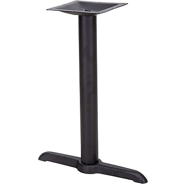 Flash Furniture 5'' x 22'' Cast Iron Restaurant Table T-Base with 3'' Dia. Table Height Column, Black