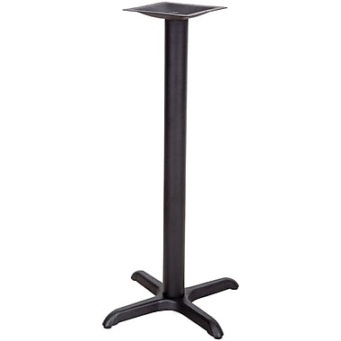 Flash Furniture 22'' x 22'' Cast Iron Restaurant Table X-Base with 3'' Dia. Bar Height Column, Black