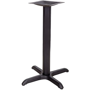 Flash Furniture 22'' x 22'' Cast Iron Restaurant Table X-Base with 3'' Dia. Table Height Column, Black