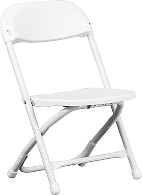 Flash Furniture Kids Plastic Folding Chair, White, 40/Pack