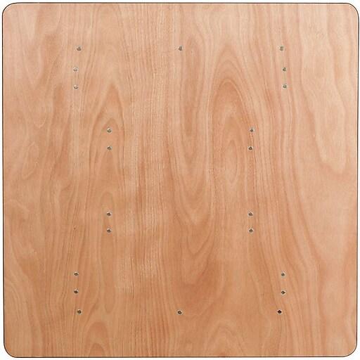 "Flash Furniture 30 1/8""H x 48""L x 48""D Wood Folding Banquet Table"