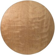 "Flash Furniture 72""Dia. Folding Banquet Table, Brown (YTWRFT72TBL)"