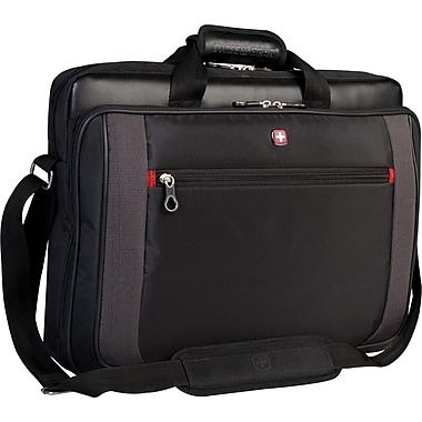 Swiss Gear - Mallette pour portatif de 17,3 po à chargement par le dessus, noir