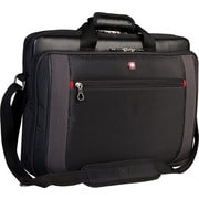 "Swiss Gear 17.3"" Topload Laptop Briefcase, Black"