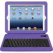 Aluratek Slim Colour Folio Case with Bluetooth Keyboard for iPad 2nd, 3rd and 4th Generation, Grape Jelly