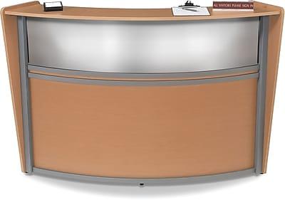 OFM Marque Single-Unit Plexi-Reception Station, Maple
