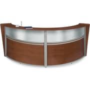 OFM Marque Double-Unit Plexi-Reception Station, Cherry