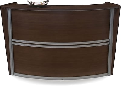 OFM Marque Single-Unit Reception Station, Walnut