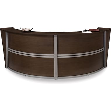 OFM Marque Double-Unit Reception Station, Walnut (845123022207)