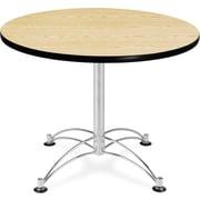 "OFM 29 1/2"" x 36"" x 36"" Round Laminate Multi-Purpose Table, Oak"