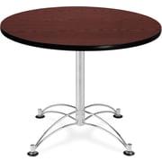 "OFM 29 1/2"" x 36"" x 36"" Round Laminate Multi-Purpose Table, Mahogany"