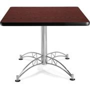 "OFM 29 1/2"" x 36"" x 36"" Square Laminate Multi-Purpose Table, Mahogany"