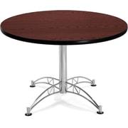 "OFM 29 1/2"" x 42 1/4"" x 42 1/4"" Round Laminate Multi-Purpose Table, Mahogany"