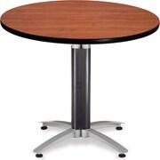 "OFM 29 1/2"" x 36"" x 36"" Round Laminate Mesh Base Multi-Purpose Table, Cherry"