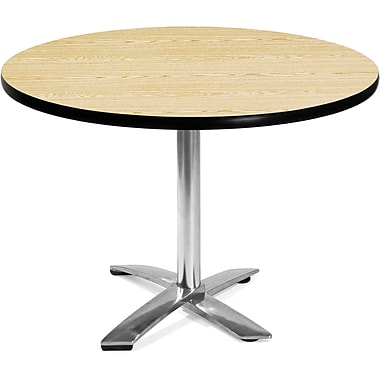 OFM – Table ronde multiusage rabattable en stratifié, 29 1/2 x 42 x 42 po, chêne (811588010097)