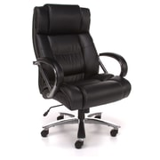 OFM Avenger Big and Tall Leather High-Back Executive Chair, Black or Brown