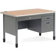OFM Mesa Steel Single Pedestal Teacher's Desk, Maple
