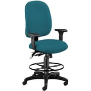 OFM 125-DK-802 AirFlo Polyester Task Chair and Drafting Kit with Adjustable Arms, Teal