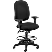OFM Airflow Fabric Computer and Desk Office Chair, Adjustable Arms, Black (845123025765)