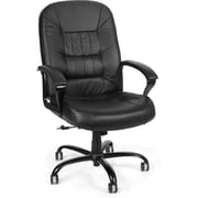 OFM Big and Tall Leather Mid-Back Executive Chair, Black (800-L)