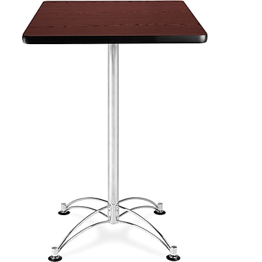 OFM – Table à café carrée en stratifié, 41 1/2 x 23 3/4 x 23 3/4 po, acajou (845123006337)