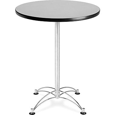 OFM – Table à café ronde de 41 x 30 x 30 po en stratifié, gris nébuleux (845123006399)