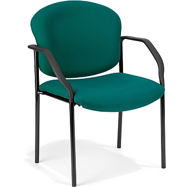 OFM Manor Steel Guest/Reception Chair, Fabric, Teal (404-802)
