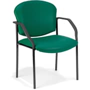 OFM Manor Steel Guest/Reception Chair, Vinyl, Teal (404-VAM-602)