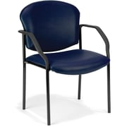 OFM Manor Steel Guest/Reception Chair, Vinyl, Navy (405-VAM-605)