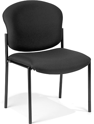 OFM Manor Steel Guest/Reception Chair, Black (408-805)
