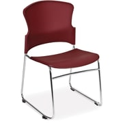 OFM Multi-Use Plastic Seat and Back Stack Chair, Wine