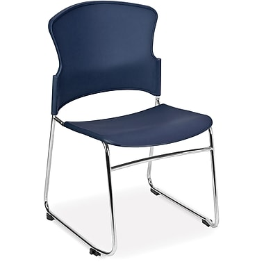 OFM Multi-Use Plastic Seat and Back Stack Chair, Navy (845123049174)