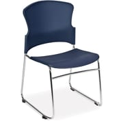 OFM Multi-Use Plastic Seat and Back Stack Chair, Navy