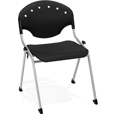 OFM Rico Polypropylene Stack Chair, Black (845123048481)
