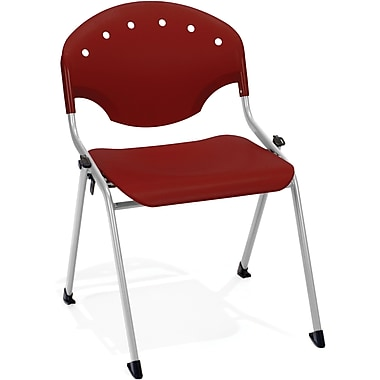 OFM Rico Polypropylene Stack Chair, Burgundy (845123048504)