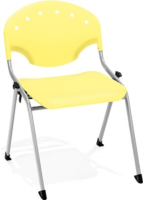 OFM Rico 4-Pack Polypropylene Stack Chair, Yellow (305-4PK-P23)
