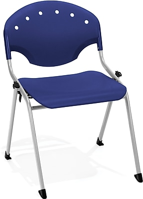 OFM Rico Polypropylene Stack Chair, Navy, 4-Pack, (305-4PK-P46)