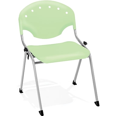 OFM Rico Polypropylene Stack Chair, Green (845123048535)