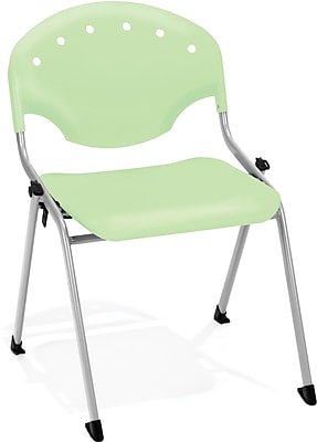 OFM Rico Polypropylene Stack Chair, Green, 4-Pack, (305-4PK-P52)