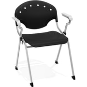 OFM Rico Polypropylene Stack Chair With Arms, Black