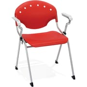 OFM Rico 4-Pack Polypropylene Stack Chair With Arms, Red (306-4PK-P1)