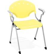 OFM Rico 4-Pack Polypropylene Stack Chair With Arms, Yellow (306-4PK-P23)