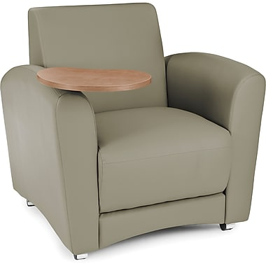 OFM Interplay Polyurethane Single Seat Tablet Chair, Taupe (845123030981)