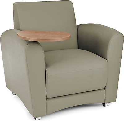 OFM Interplay Polyurethane Single Seat Tablet Chair, Taupe