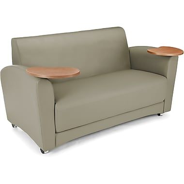OFM Interplay Polyurethane Double Seat Tablet Sofa, Taupe (845123031100)