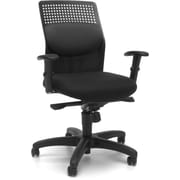 OFM Airflow Fabric Computer and Desk Office Chair, Adjustable Arms, Gray (811588015177)