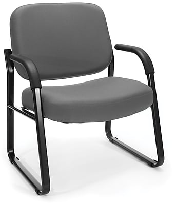 OFM Steel Guest/Reception Chair with Arms, Gray (407-801)