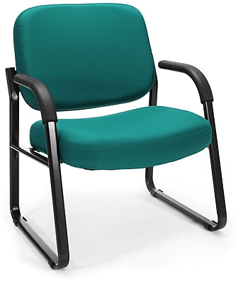 OFM Steel Guest/Reception Chair with Arms, Teal (407-802)